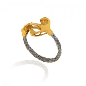 انگشتر طلا زنانه فرد طرح لنگر کد cr445