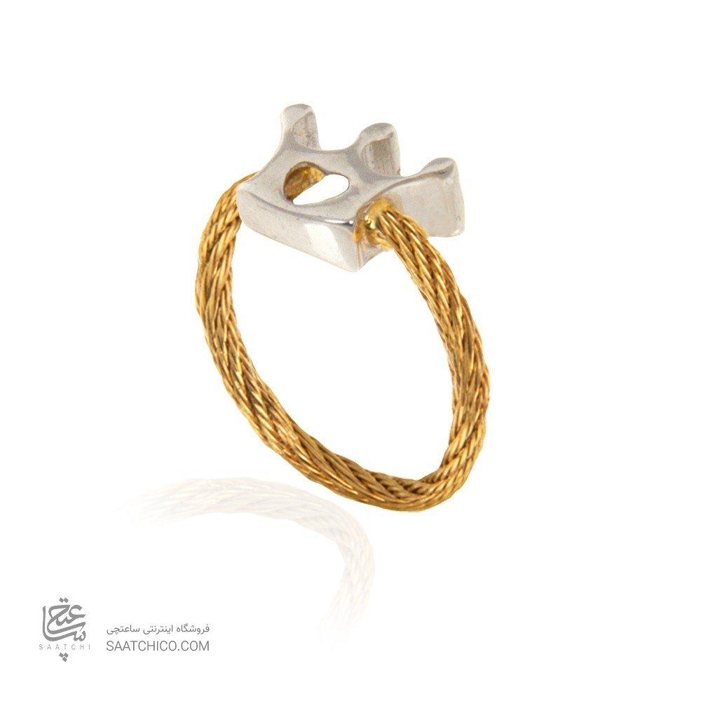 انگشتر طلا زنانه فرد طرح تاج کد cr446