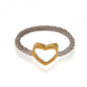 انگشتر طلا فرد طرح قلب کد cr447