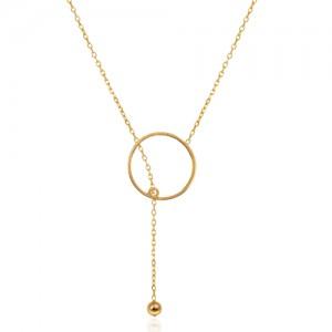 گردنبند طلا زنانه طرح هندسی کد ln838
