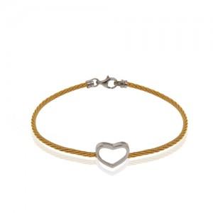 دستبند طلا فرد طرح قلب کد cb371