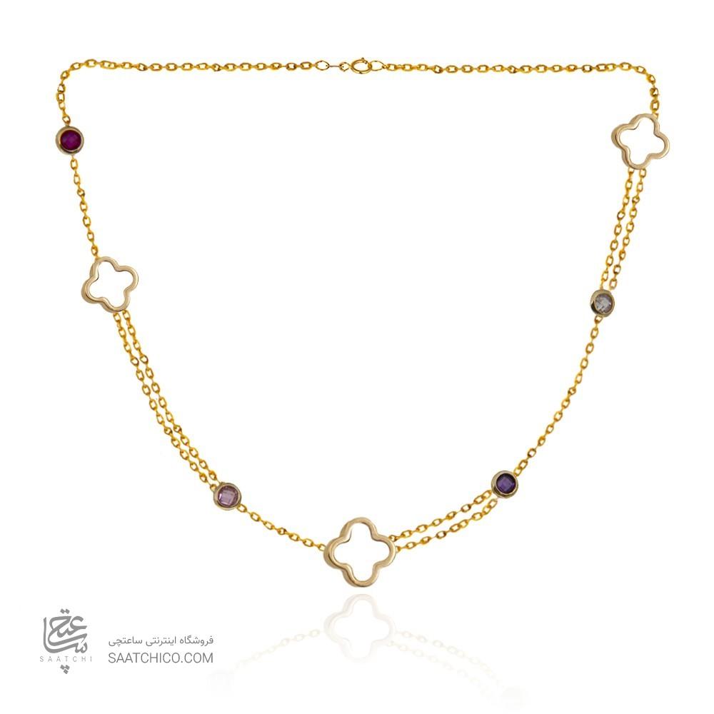 گردنبند طلا زنانه طرح ونکلیف با مارکو کد cn320