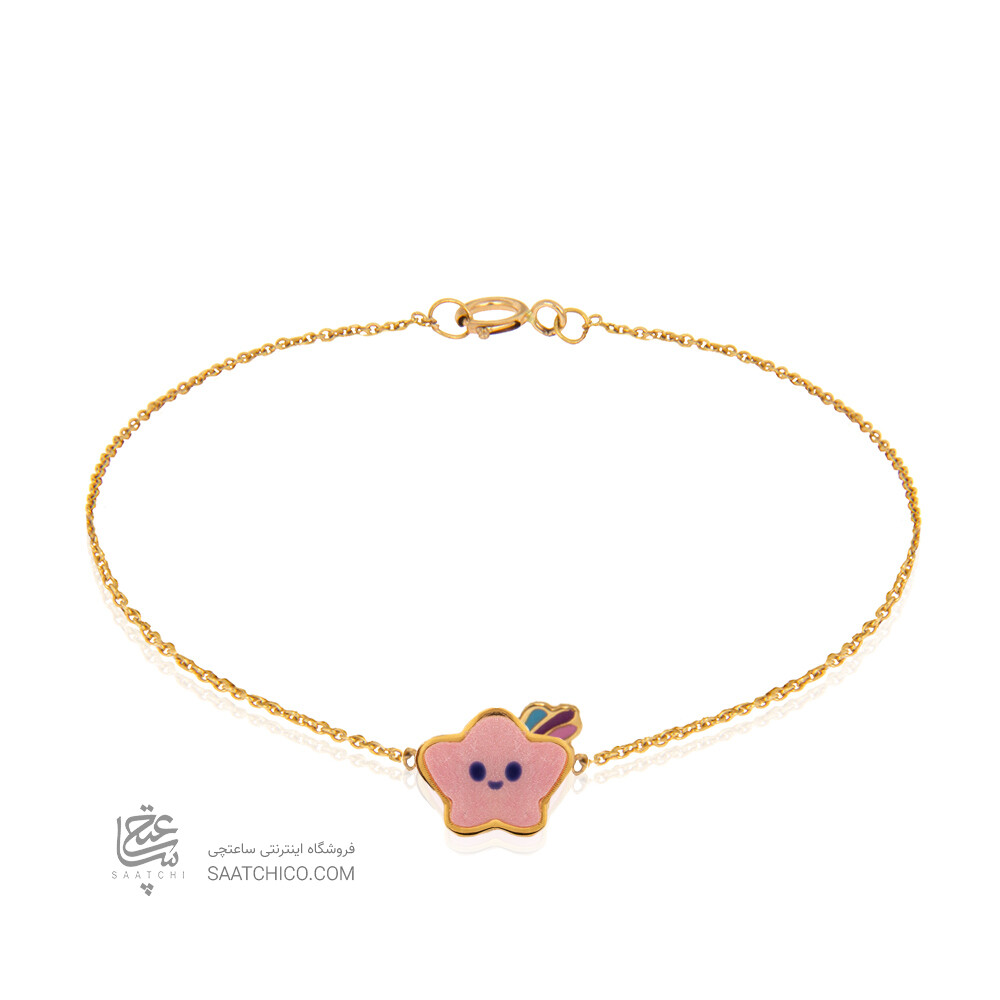 دستبند طلا کودک طرح ستاره کد kb347