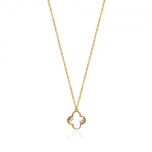 گردنبند طلا زنانه طرح ونکلیف کد cn360