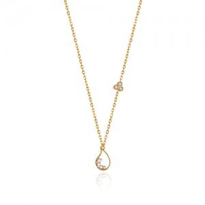 گردنبند طلا زنانه طرح بته جقه کد cn353