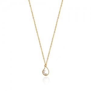 گردنبند طلا زنانه طرح بته جقه کد cn324