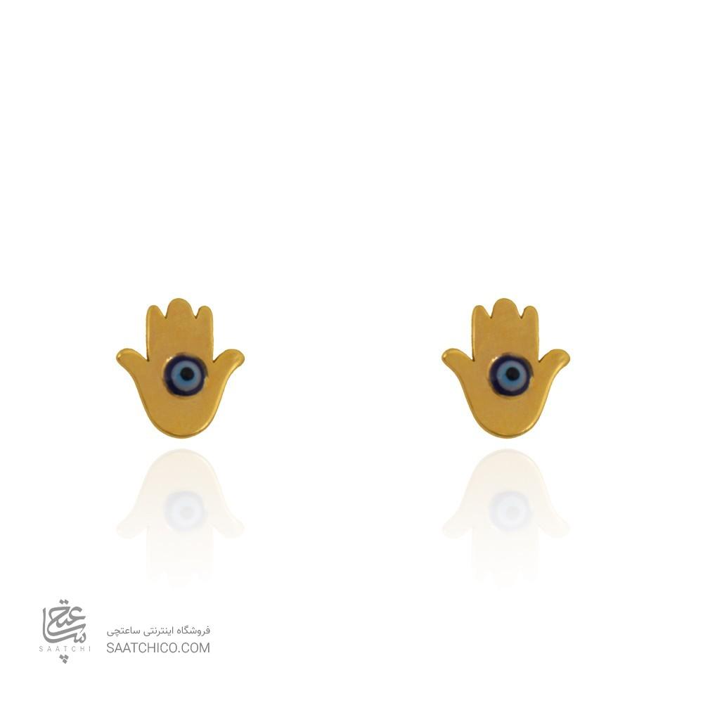 گوشواره طلا زنانه طرح دست همسا کد le621