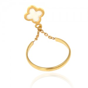 انگشتر طلا زنانه طرح ونکلیف کد cr338
