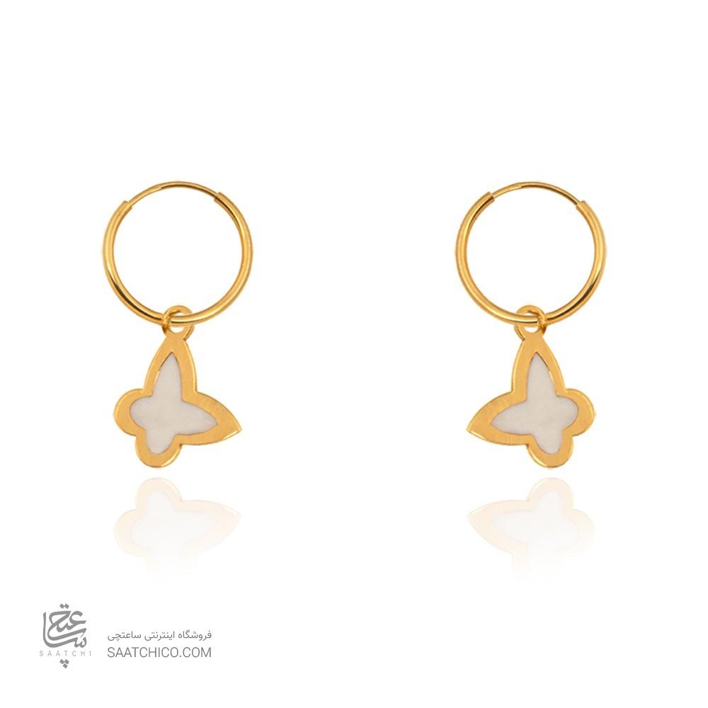 گوشواره طلا زنانه طرح پروانه کد ce353