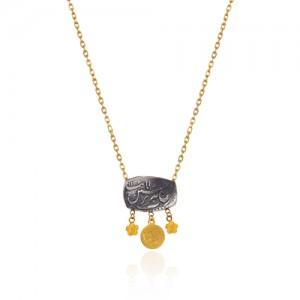 گردنبند طلا و نقره زنانه کد cn314