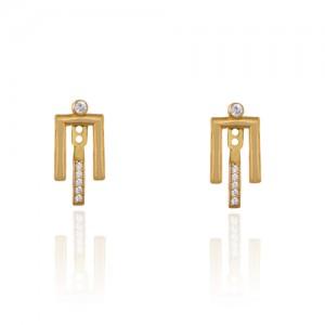 گوشواره طلا زنانه طرح هندسی کد ce348