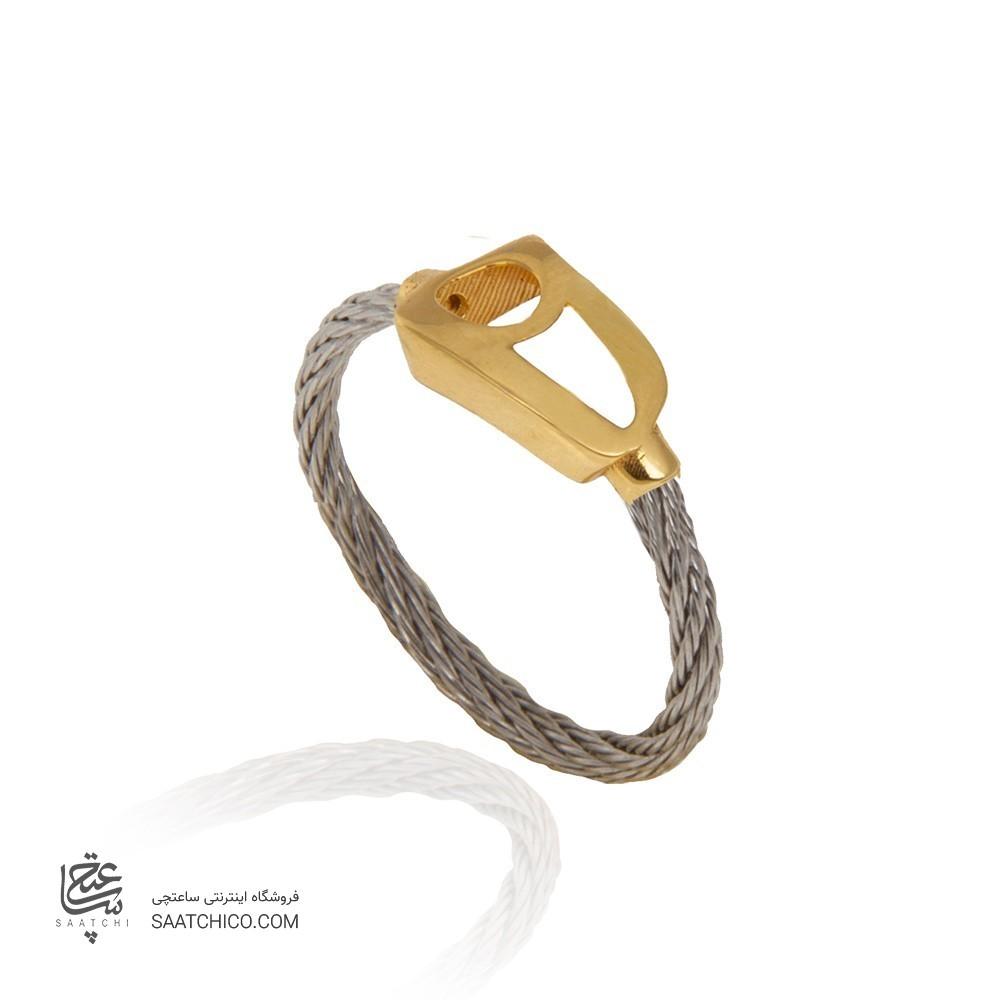 انگشتر طلا فرد طرح نیمانی کد cr304
