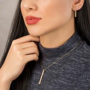 گردنبند طلا زنانه طرح هندسی کد cn393