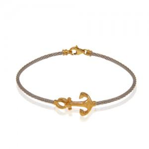 دستبند طلا فرد طرح لنگر کد cb321