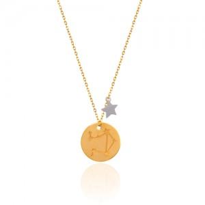 گردنبند طلا زنانه نماد ماه مهر کد ln830