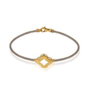 دستبند طلا زنانه طرح فرد کد cb341