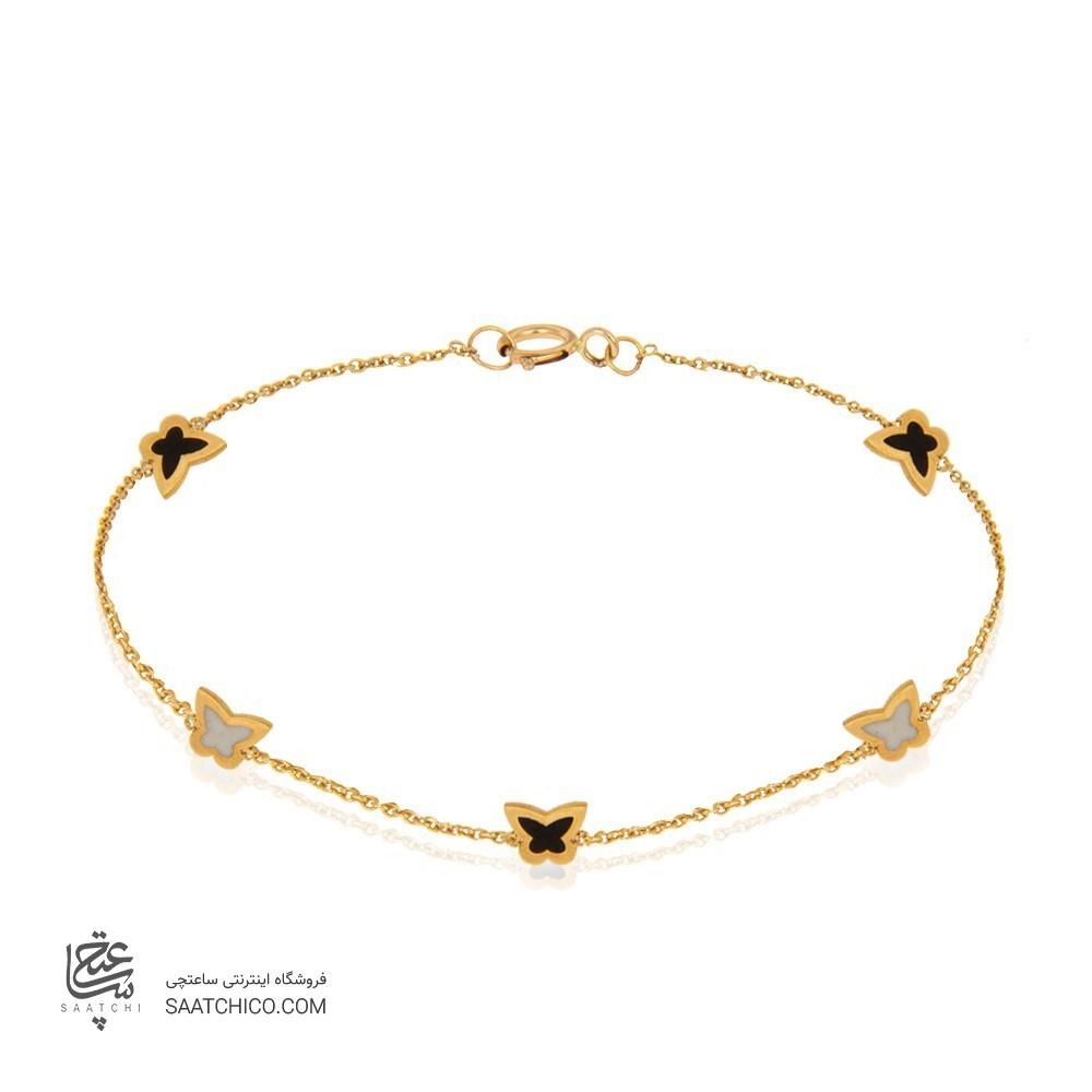 پابند طلا طرح پروانه کد ca409