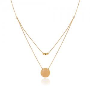 گردنبند طلا زنانه طرح هندسی کد ln839