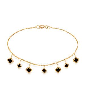 پابند طلا زنانه طرح ونکلیف کد ca408