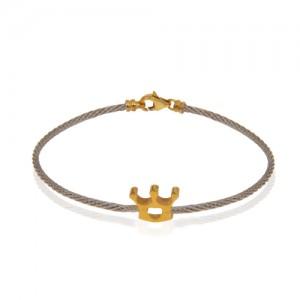دستبند طلا فرد طرح تاج کد cb352