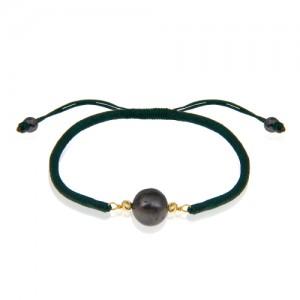 دستبند طلا با مروارید و بافت کد XB991