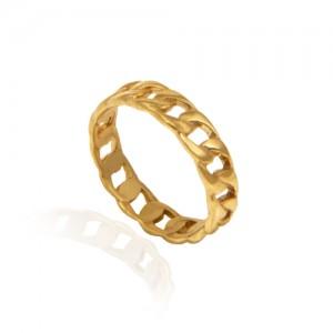 انگشتر طلا زنانه طرح زنجیر کد CR351