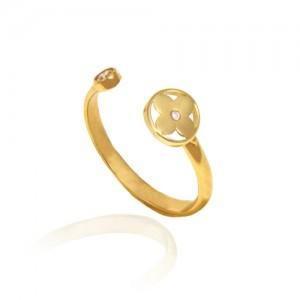 انگشتر طلا زنانه کد CR450