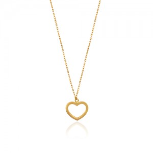 گردنبند طلا طرح قلب کد LN840