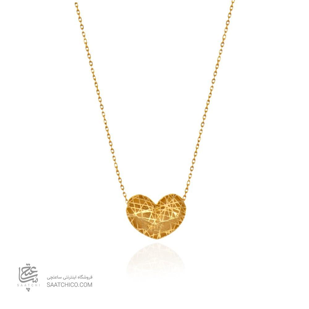 گردنبند طلا طرح قلب دو رو کد CN396