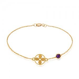 دستبند طلا با مارکو کد CB355