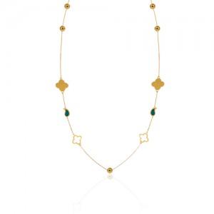 گردنبند بلند طلا زنانه کد XN632