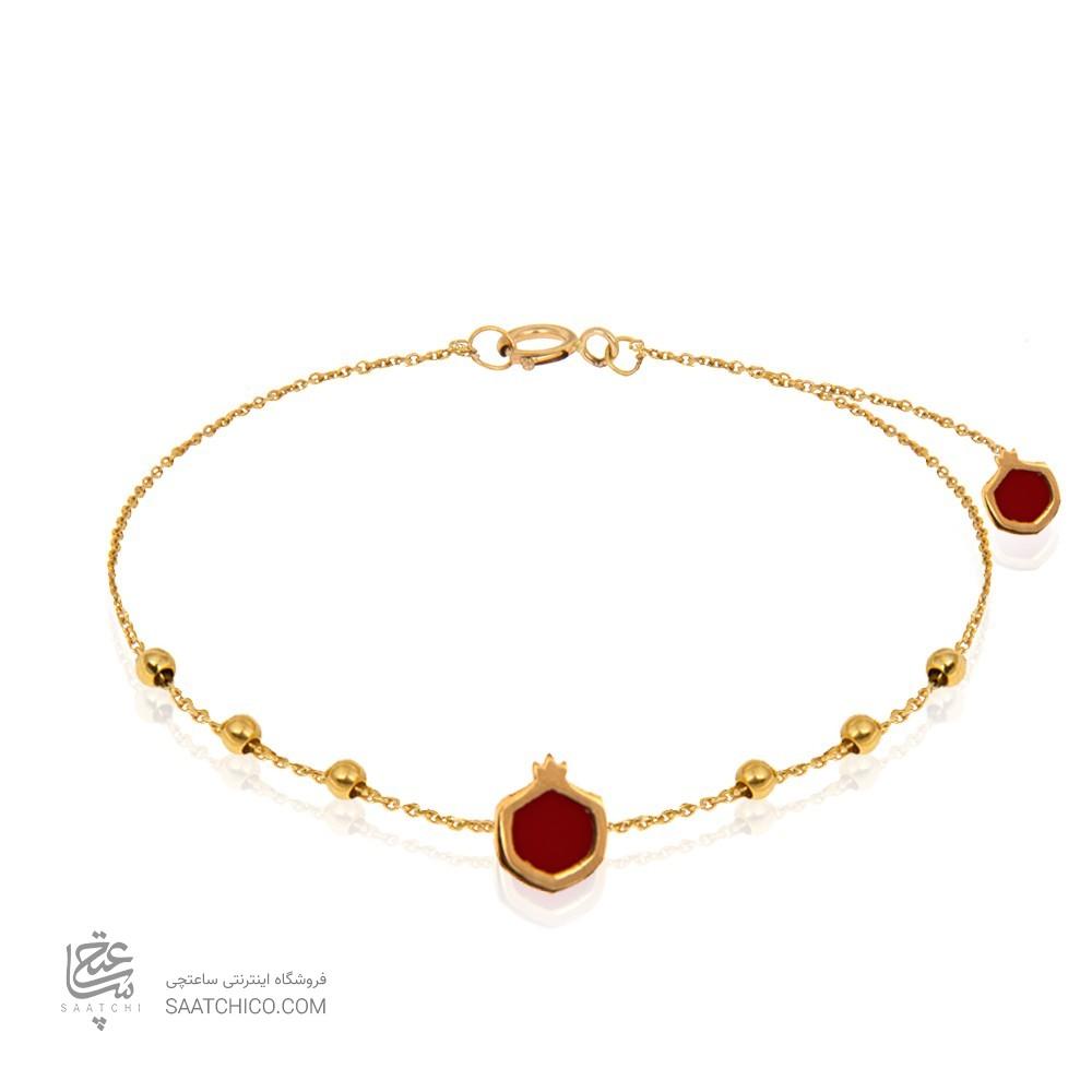 دستبند طلا انار با آویز کد CB377