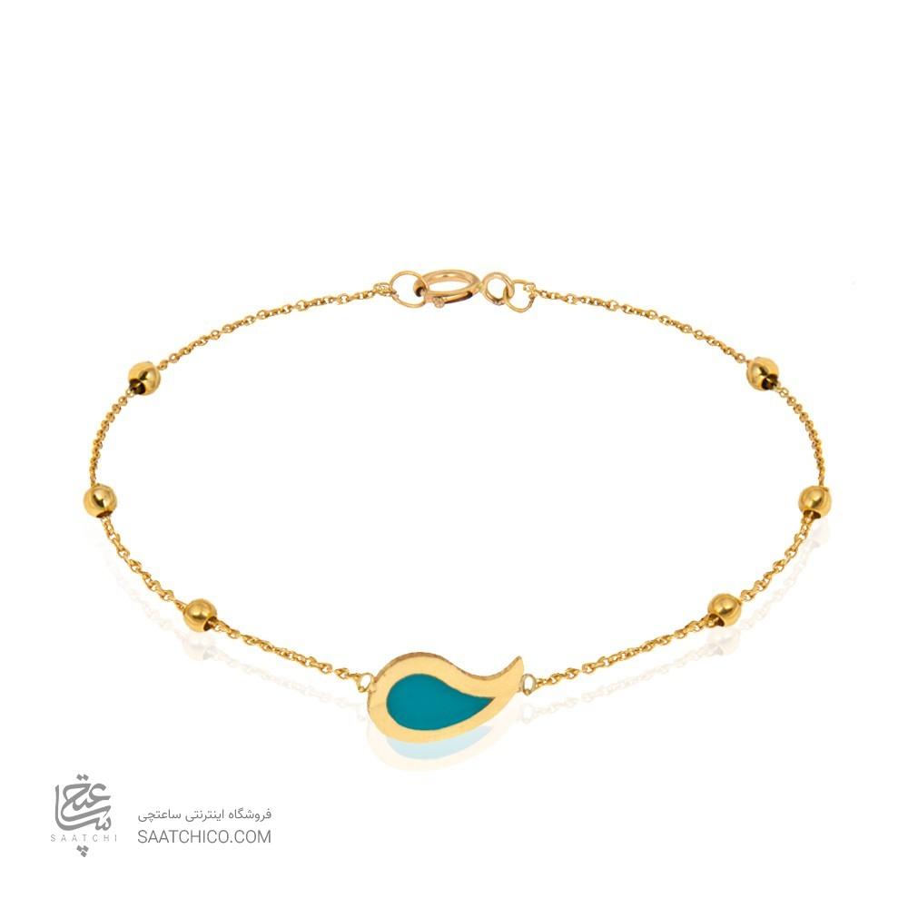 دستبند طلا و میناکاری کد CB376