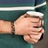 دستبند طلا مردانه با سنگ کد MB122