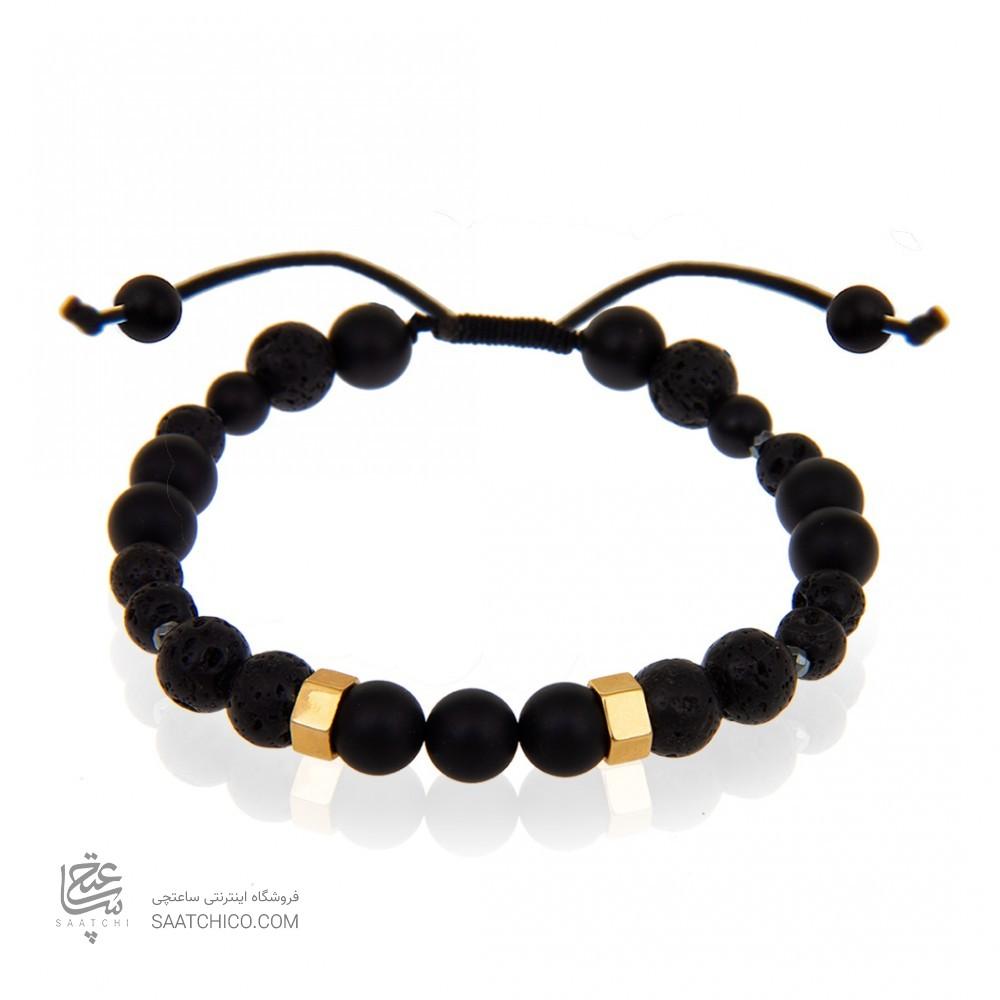 دستبند طلا مردانه با سنگ کد MB121