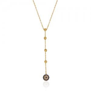 گردنبند طلا با آویز چشم نظر کد cn398