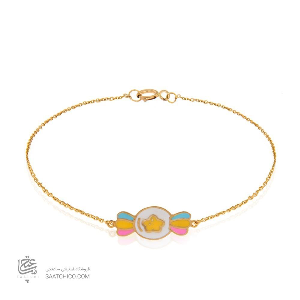 دستبند طلای کودک کد KB361