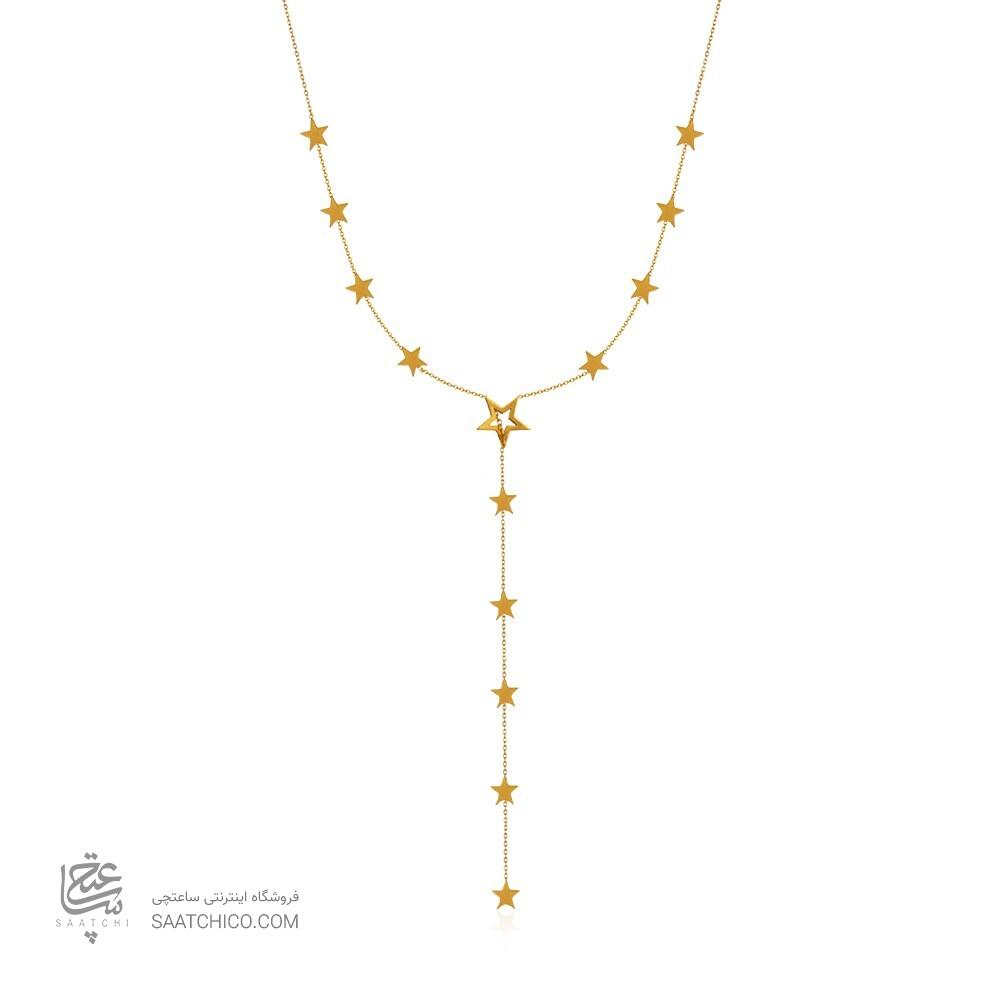 گردنبند چوکر طلا با آویز کد ln843