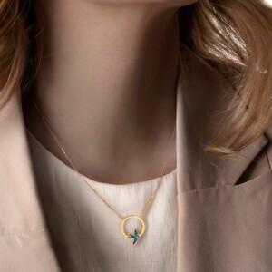 گردنبند طلا زنانه کد ln849