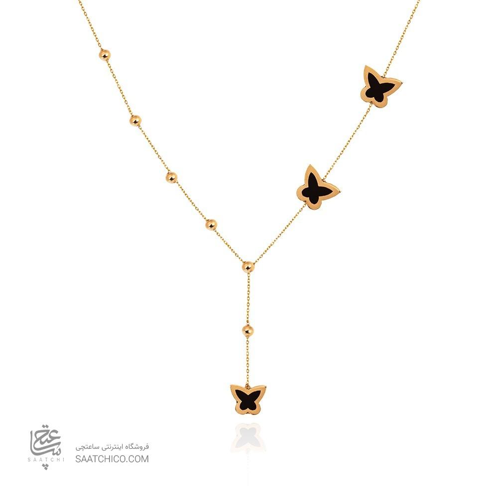 گردنبند طلا با میناکاری کد cn409
