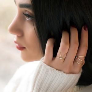 انگشتر طلا کد CR456
