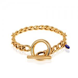 دستبند کارتیه طلا با قفل تی کد CB382