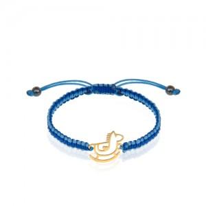 دستبند طلای کودک با بافت کد kb365