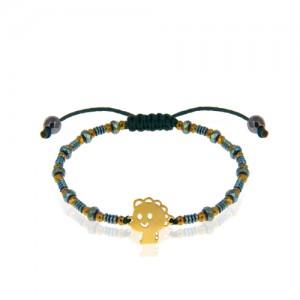 دستبند طلای کودک با سنگ کد KB366