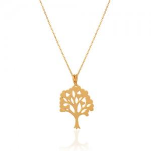 آویز طلا طرح درخت عشق کد cp301