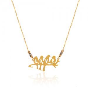 گردنبند طلا طرح Love کد ln854