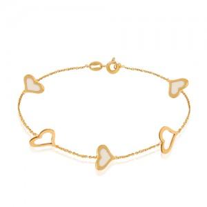 دستبند طلا با میناکاری کد cb312