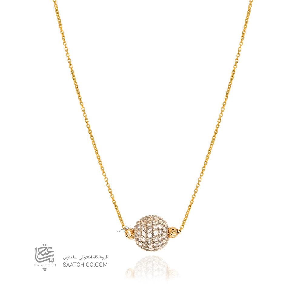 گردنبند طلا با گوی سواروسکی کد CN416