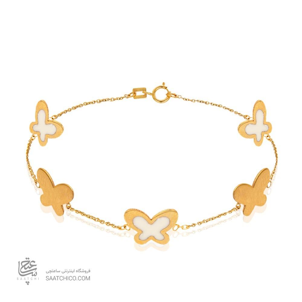 دستبند طلا با پنج پروانه کد CB385