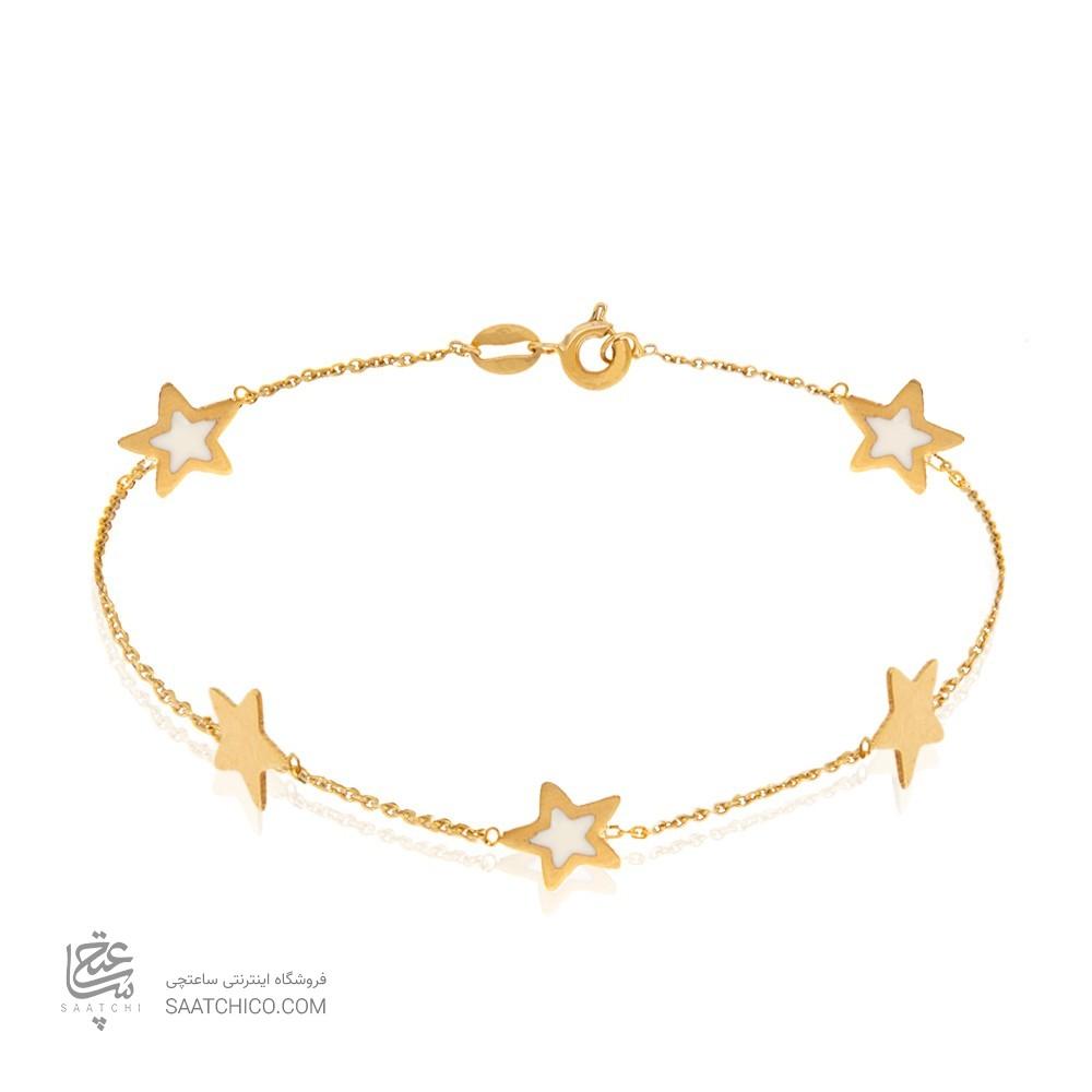 دستبند طلا با پنج ستاره کد cb353